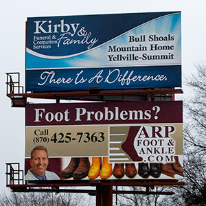 Kirby and Family Funeral and Cremation Billboard