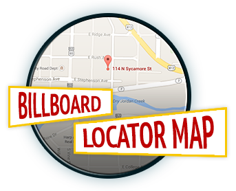 Billboard Locator Map