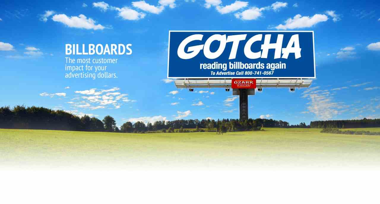 Billboards - The most customer impact for your advertising dollar...